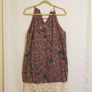 Umgee | Mauve Floral Dress